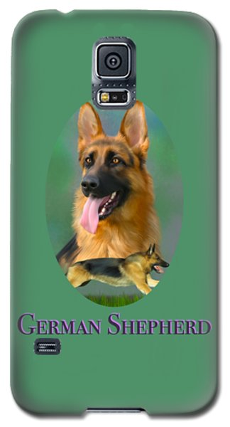 German Shepherd With Name Logo Galaxy S5 Case