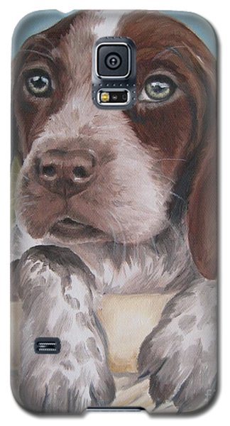 Galaxy S5 Case featuring the painting German Shorhaired Pointer Puppy by Jindra Noewi