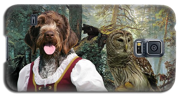 German Wirehaired Pointer Art Canvas Print - Lady Owl And Little Bears Galaxy S5 Case