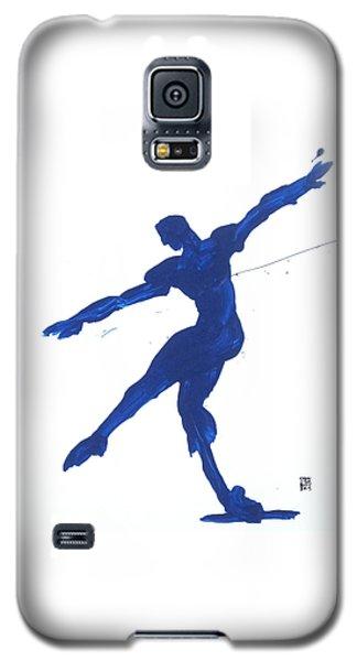Gesture Brush Blue 2 Galaxy S5 Case by Shungaboy X