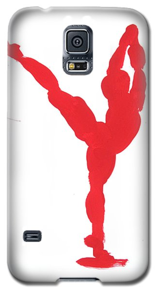Galaxy S5 Case featuring the painting Gesture Brush Red 1 by Shungaboy X