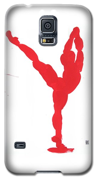 Gesture Brush Red 1 Galaxy S5 Case by Shungaboy X