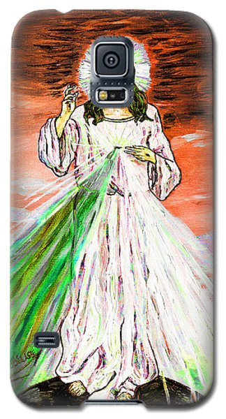 Galaxy S5 Case featuring the painting Gesu' by Loredana Messina