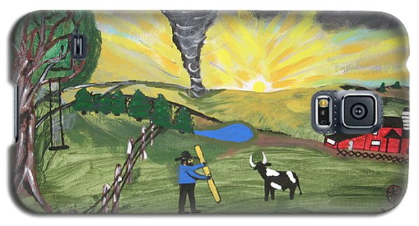 Galaxy S5 Case featuring the painting Get In The Barn by Jeffrey Koss