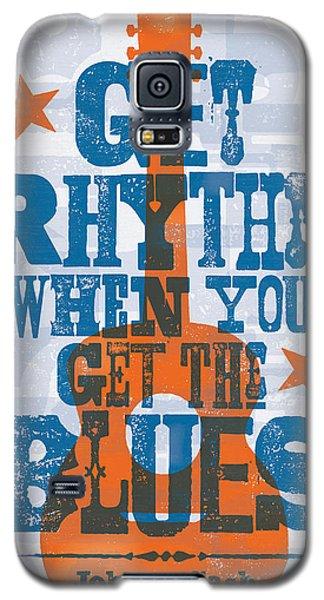 Get Rhythm - Johnny Cash Lyric Poster Galaxy S5 Case