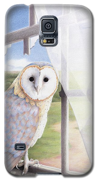 Owl Galaxy S5 Case - Ghost In The Attic by Amy S Turner