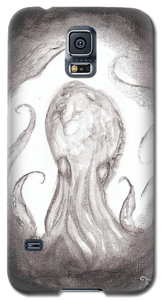 Galaxy S5 Case featuring the painting Ghostopus by Christophe Ennis