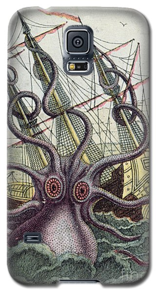 Giant Octopus Galaxy S5 Case by Denys Montfort