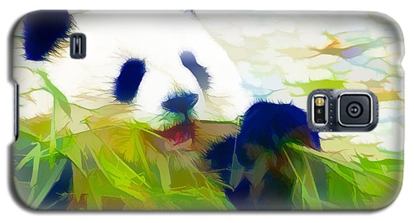 Giant Panda Bear Eating Bamboo Galaxy S5 Case by Lanjee Chee