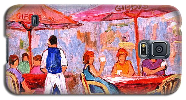 Galaxy S5 Case featuring the painting Gibbys Cafe by Carole Spandau