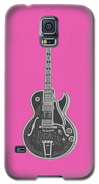 Gibson Es-175 Electric Guitar Tee Galaxy S5 Case by Edward Fielding