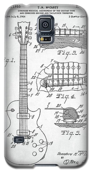 Gibson Les Paul Electric Guitar Patent Galaxy S5 Case by Taylan Apukovska