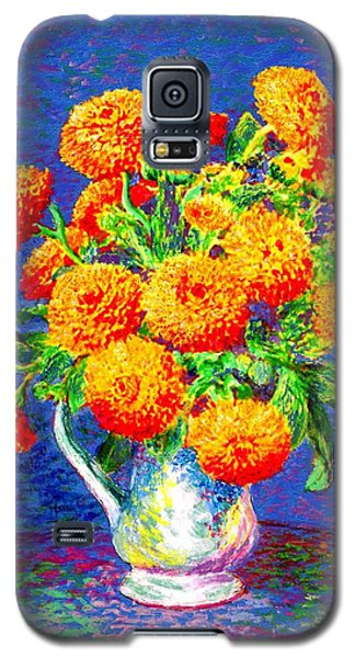 Gift Of Gold, Orange Flowers Galaxy S5 Case by Jane Small