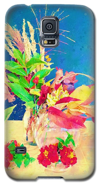 Galaxy S5 Case featuring the digital art Gifts From The Yard Watercolor by Christina Lihani