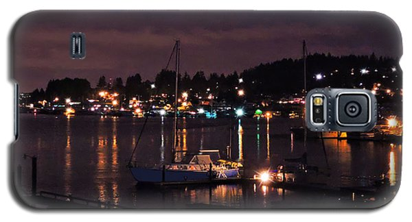 Galaxy S5 Case featuring the photograph Gig Harbor At Night by Jack Moskovita