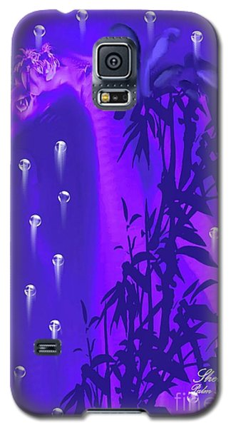 Galaxy S5 Case featuring the painting Gilly The Giraffe-by Sherri Of Palm Springs by Sherri  Of Palm Springs