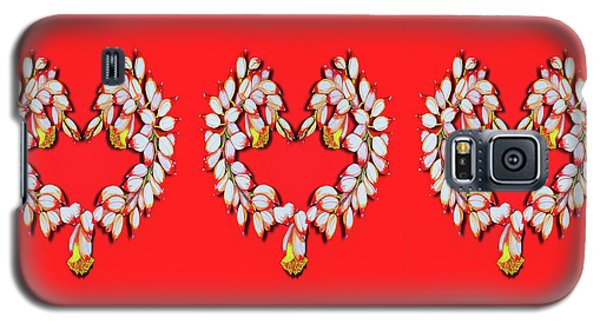 Galaxy S5 Case featuring the painting Ginger Flower Hearts by Debbie Chamberlin