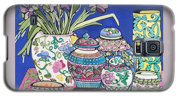 Galaxy S5 Case featuring the painting Ginger Jars by Rosemary Aubut