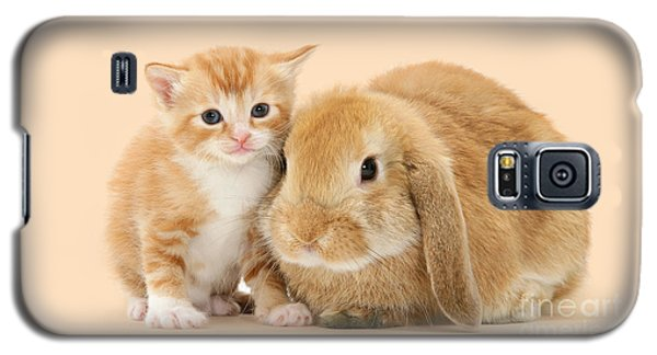 Ginger Kitten And Sandy Bunny Galaxy S5 Case