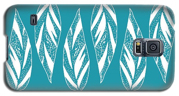 Ginger Leaf Lineup - Teal Galaxy S5 Case