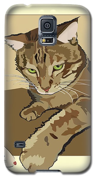 Ginger Peach Bengal Kitty Galaxy S5 Case