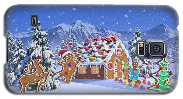 Card Galaxy S5 Case - Gingerbread House by Jerry LoFaro