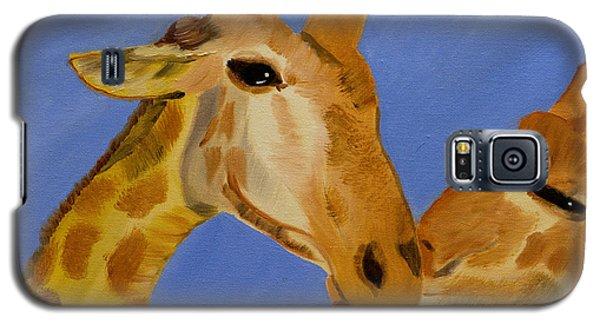 Giraffe Bonding Galaxy S5 Case by Meryl Goudey