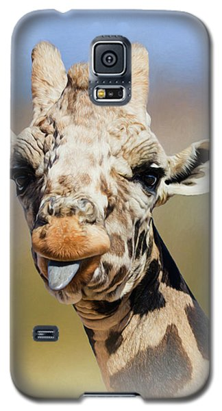 Giraffe Giving The Raspberry Galaxy S5 Case