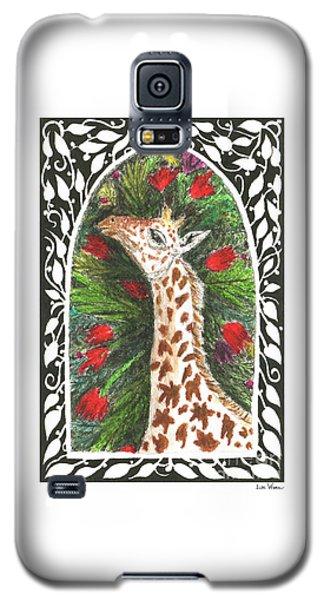 Giraffe In Archway Galaxy S5 Case by Lise Winne
