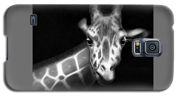 Giraffe In Black And White Galaxy S5 Case