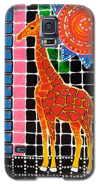 Galaxy S5 Case featuring the painting Giraffe In The Bathroom - Art By Dora Hathazi Mendes by Dora Hathazi Mendes