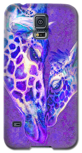 Giraffe Love 515 Galaxy S5 Case by Jane Schnetlage