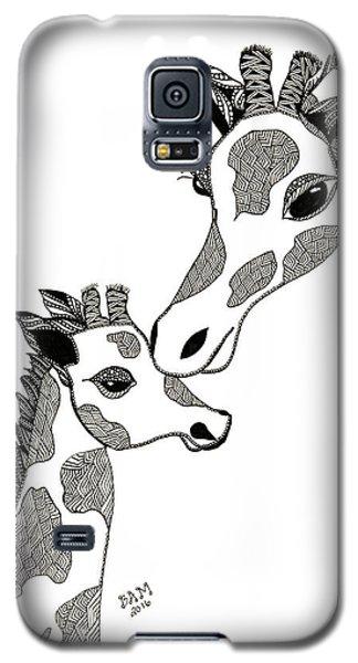 Giraffe Mom And Baby Galaxy S5 Case