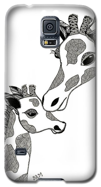 Giraffe Mom And Baby Galaxy S5 Case