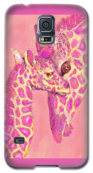 Giraffe Shades- Pink Galaxy S5 Case by Jane Schnetlage