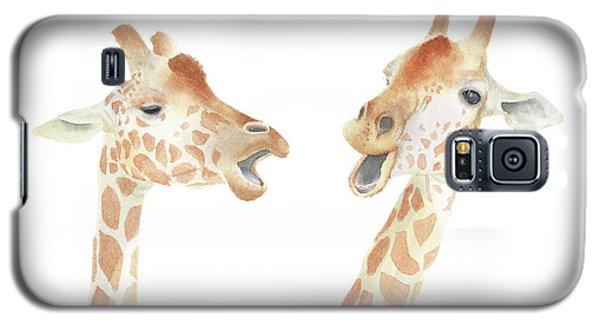 Giraffe Watercolor Galaxy S5 Case by Taylan Apukovska