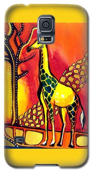 Giraffe With Fire  Galaxy S5 Case