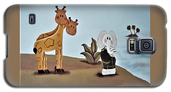 Giraffes, Elephants And Palm Trees Galaxy S5 Case