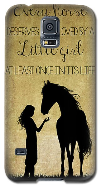 Girl And Horse Silhouette Galaxy S5 Case