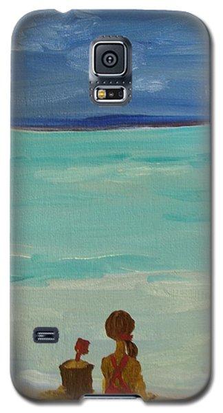 Girl And The Beach Galaxy S5 Case by Joseph Hawkins
