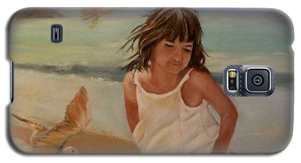 Girl And The Seagulls Galaxy S5 Case by Ceci Watson