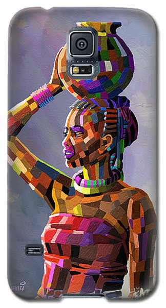 Girl Carrying Water Galaxy S5 Case by Anthony Mwangi