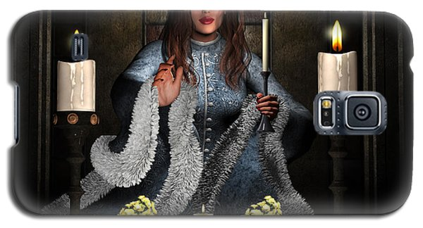 Girl Holding Candle Galaxy S5 Case