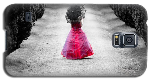 Girl In A Red Dress Galaxy S5 Case