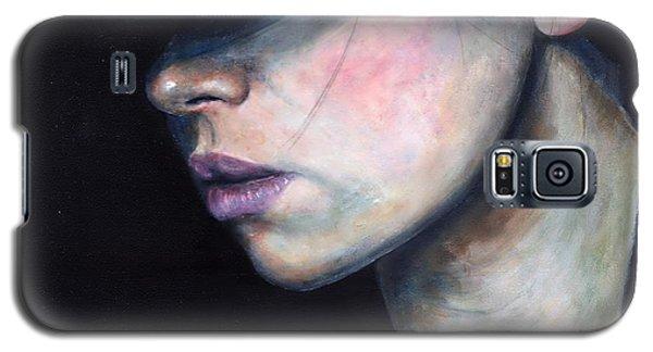 Girl In Black Hat Galaxy S5 Case