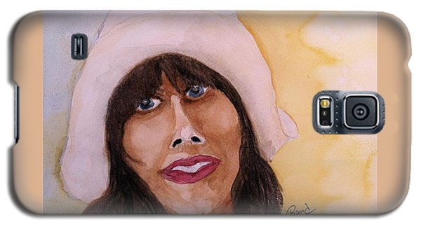 Galaxy S5 Case featuring the painting Girl In Hat by Rand Swift