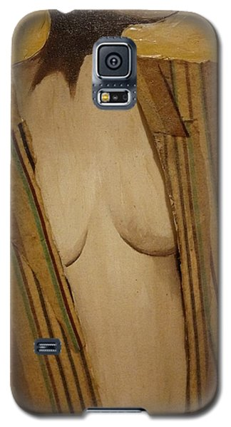 Girl In Man's Shirt Galaxy S5 Case