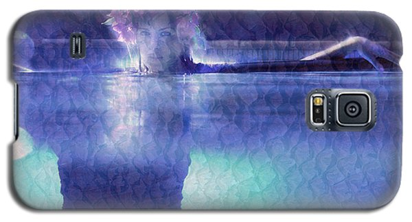 Galaxy S5 Case featuring the photograph Girl In Pool At Night by Michael Edwards