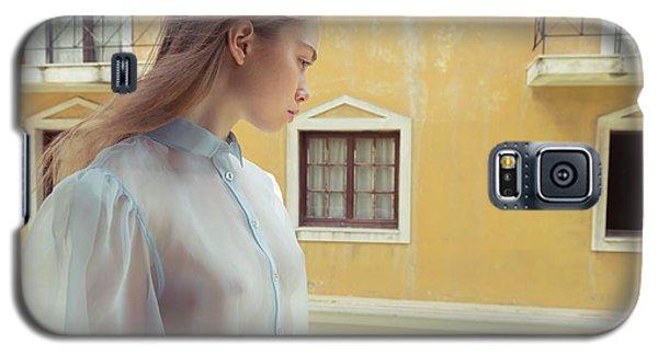 Girl In Profile Galaxy S5 Case