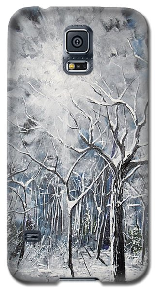 Girl In The Woods Galaxy S5 Case